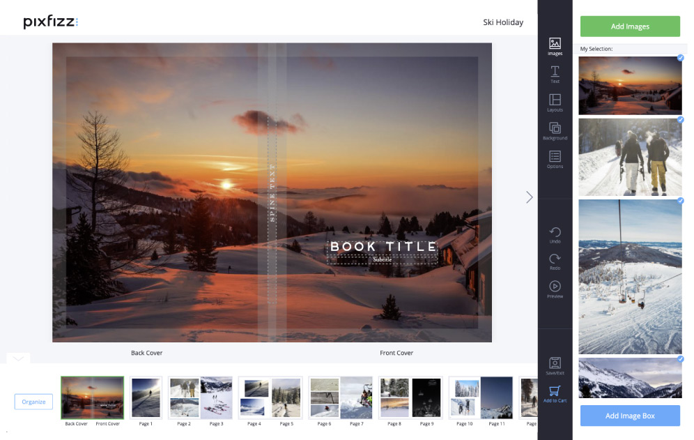Photo Book in Pixfizz Design Tool